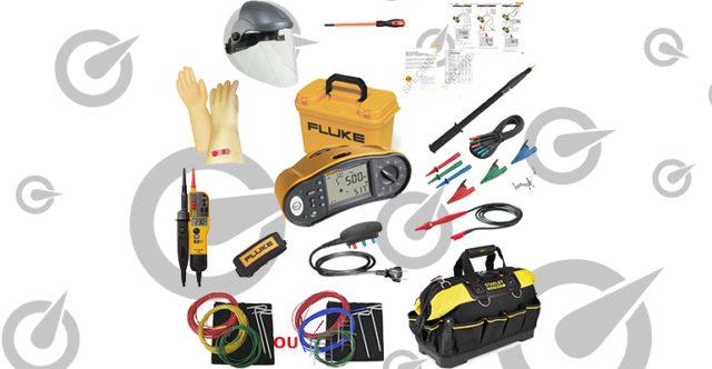 Kit contrôleur Fluke 1663 + kit EPI, VAT, perchette télescopique et sacoche, conforme FD C 16-600