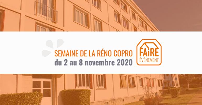 Semaine de la Réno Copro : le programme du 2 au 8 novembre 2020
