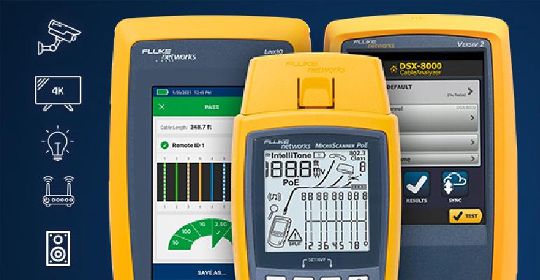 Offre de reprise pour les testeurs de câbles Fluke : passer sereinement à la technologie PoE